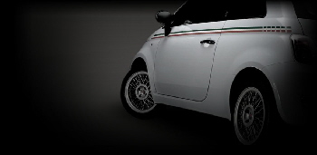 fiat 500 with borrani rims